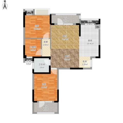 王家湾中央生活区3室1厅1卫0厨110.00㎡户型图