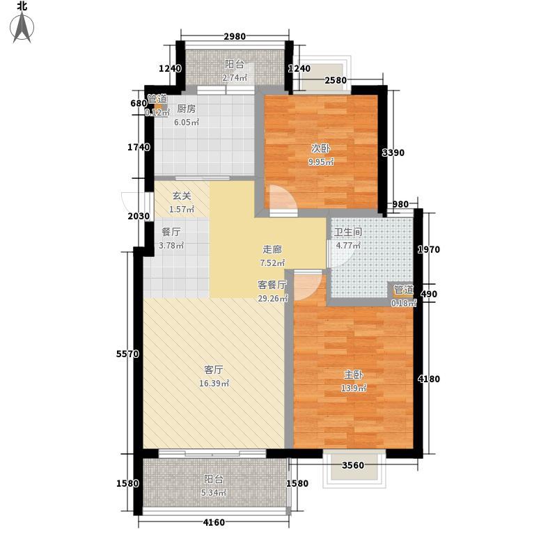 越湖名邸84.00㎡二期公寓A2户型-副本