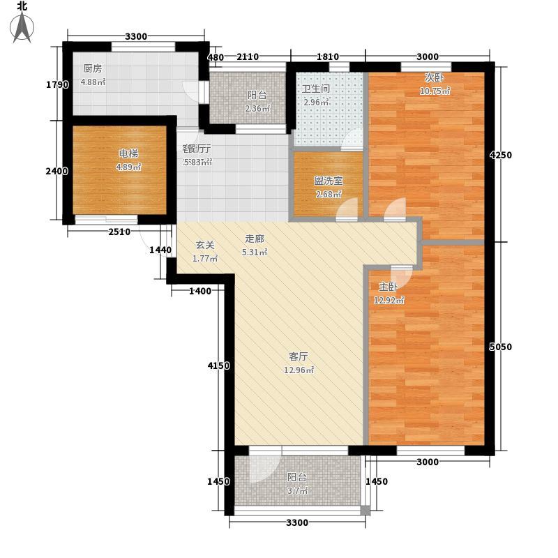 家年华92.58㎡家年华户型图2室2厅1卫1厨户型10室