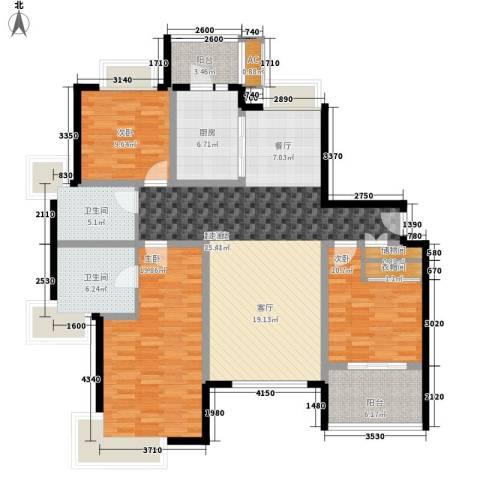绿洲香岛花园(绿洲长岛花园五期)3室0厅2卫1厨161.00㎡户型图
