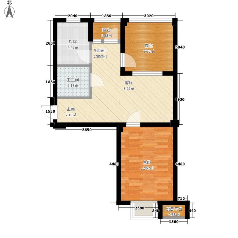 凯隆・城市广场E_600x800mm 2室1厅1卫1厨 67.63㎡