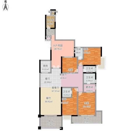天骄峰景4室1厅4卫1厨316.00㎡户型图