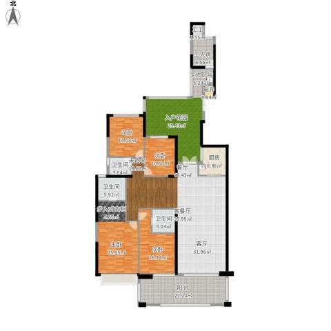 天骄峰景4室1厅3卫1厨293.00㎡户型图