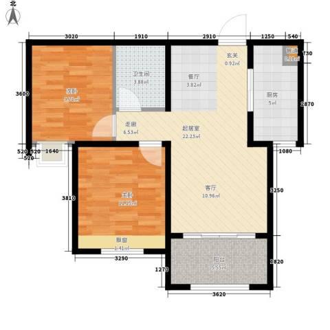 凤城国贸2室0厅1卫1厨82.00㎡户型图