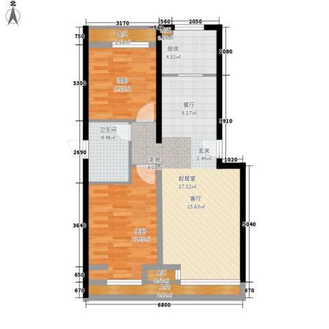 凯德锦绣2室0厅1卫1厨62.76㎡户型图