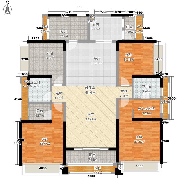 依云天汇170.00㎡依云天汇户型图北区03户型5室2厅2卫1厨户型5室2厅2卫1厨