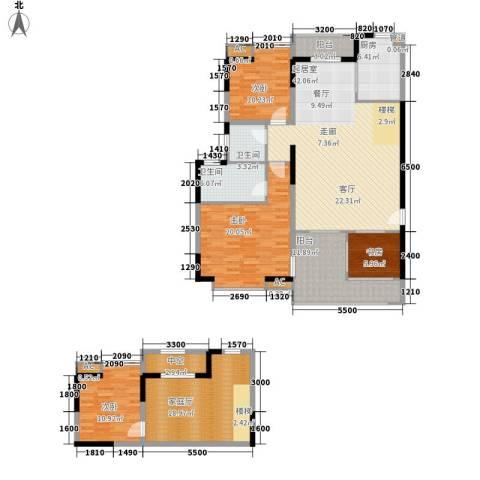 汇景・上层4室0厅2卫1厨202.00㎡户型图