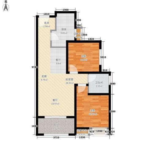 阳光北京城2室0厅1卫1厨85.00㎡户型图