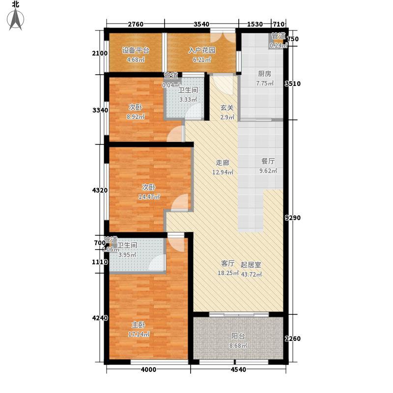 世欧王庄135.00㎡5#楼02、03单元户型3室2厅2卫