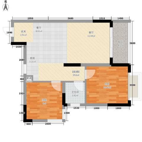 汇丰国际度假公寓2室0厅1卫0厨79.00㎡户型图