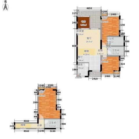 汇景・上层4室0厅3卫1厨177.00㎡户型图
