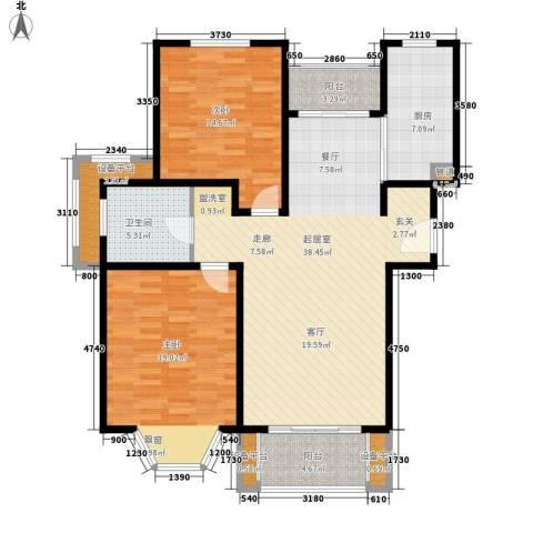 绿地崴廉公寓2室0厅1卫1厨108.92㎡户型图