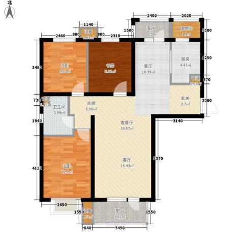 河畔新城・名门组团3室1厅1卫1厨118.00㎡户型图