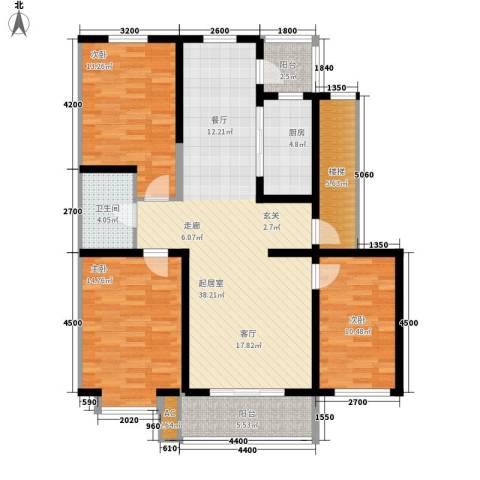 锦绣江南3室0厅1卫1厨111.00㎡户型图