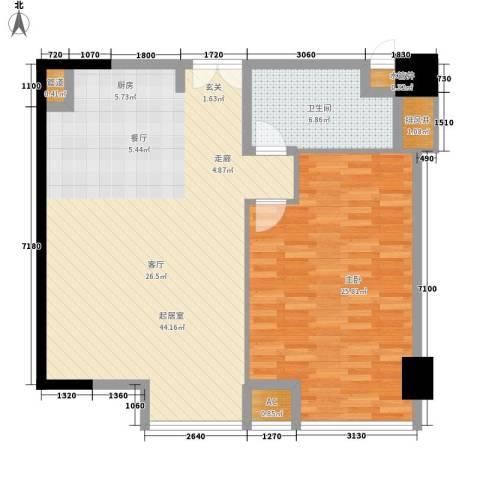 越秀・财富世纪广场1室0厅1卫0厨115.00㎡户型图
