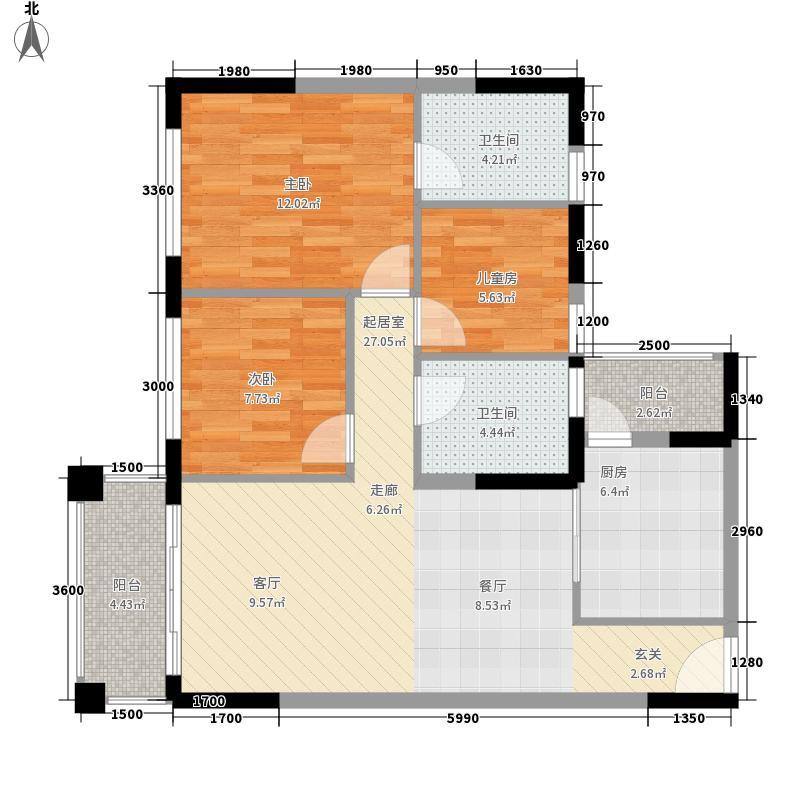 佛罗伦斯93.00㎡佛罗伦斯3室户型3室