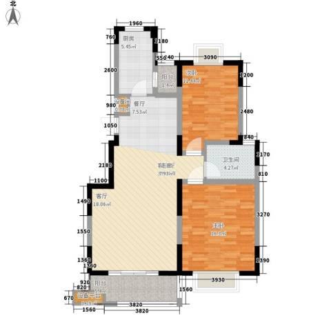 宏润阳光城2室1厅1卫1厨89.00㎡户型图