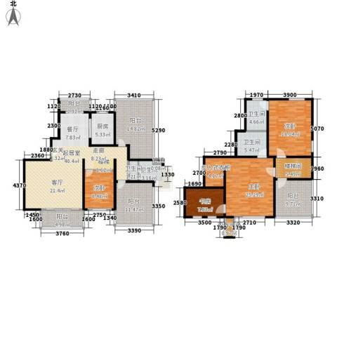 绿地崴廉公寓4室0厅4卫1厨192.00㎡户型图