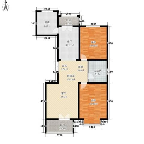 宝坻书香园2室0厅1卫1厨117.00㎡户型图