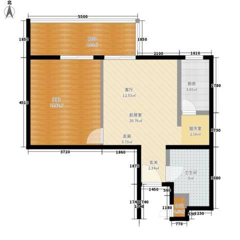 雍合湾1室0厅1卫1厨91.00㎡户型图