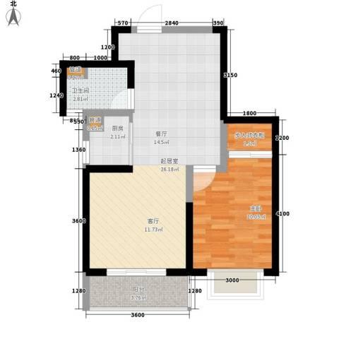 兴园小区1室0厅1卫1厨55.00㎡户型图