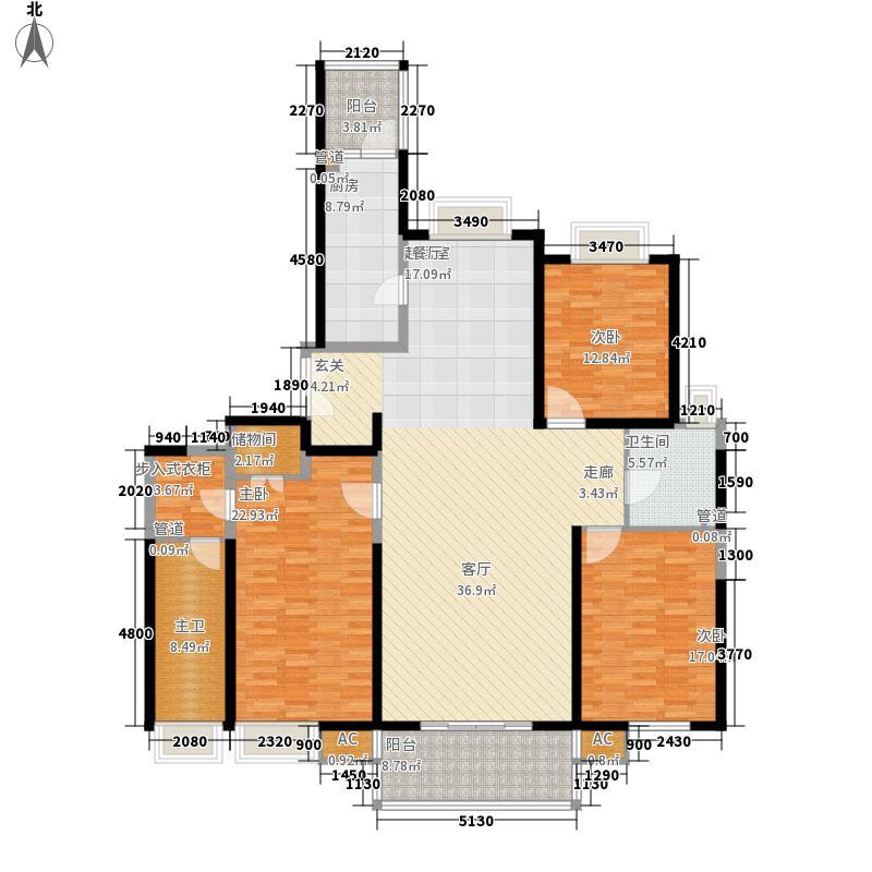 世茂外滩新城177.00㎡2#楼户型单页L1户型3室2厅2卫1厨