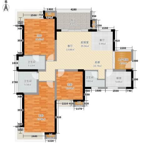世家城南一号3室0厅3卫1厨139.00㎡户型图