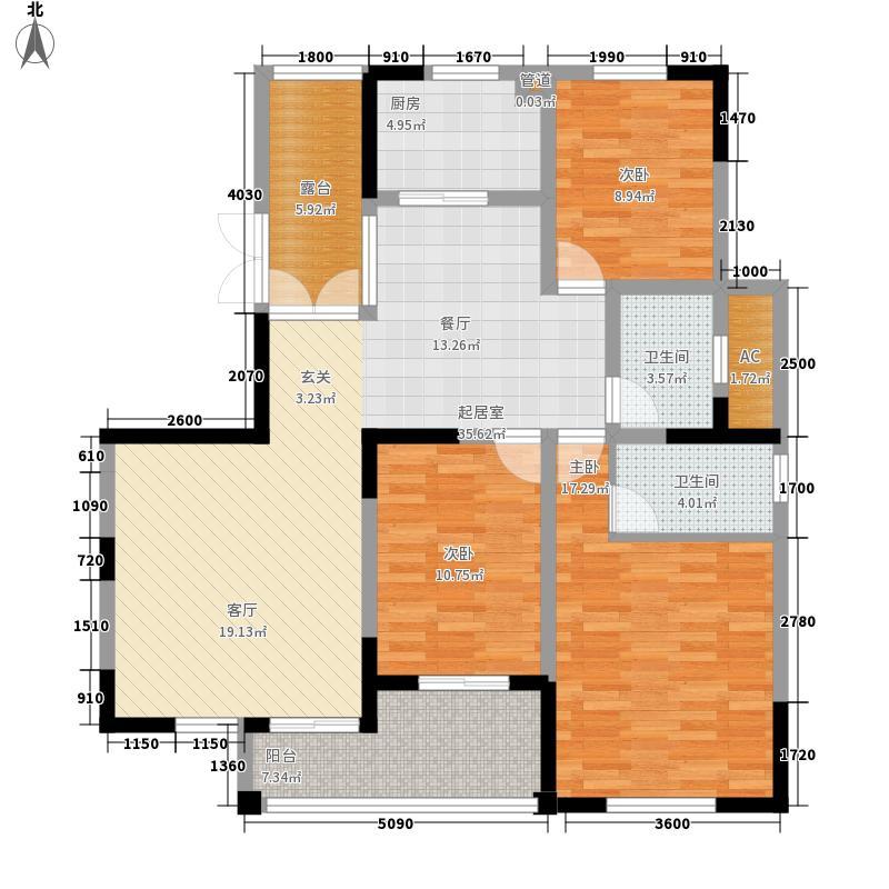 中天蓝山中天蓝山户型图20080723-9号楼D户型3室2厅2卫1厨户型3室2厅2卫1厨