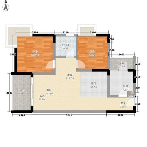 东和院2室0厅1卫1厨93.00㎡户型图