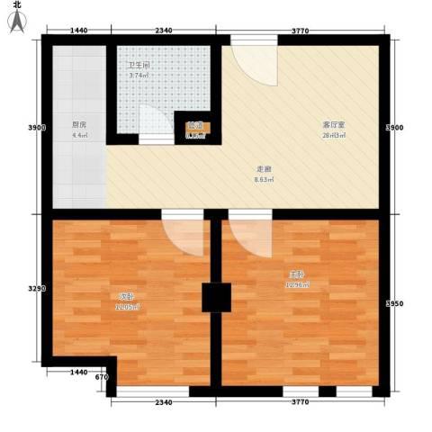 唯C商务广场2室0厅1卫0厨71.00㎡户型图