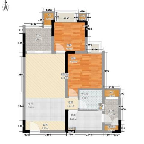 金悦湾2室0厅1卫1厨65.00㎡户型图