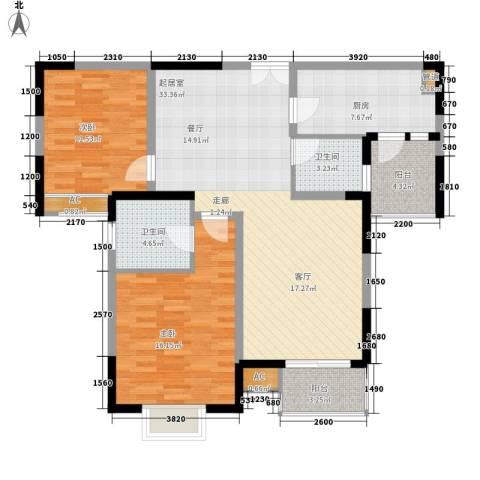 阳光城市花园四期2室0厅2卫1厨98.00㎡户型图