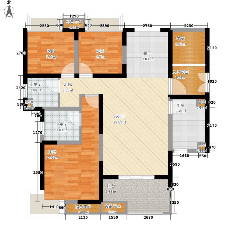 一期7号楼、8号楼2-25层B1户型