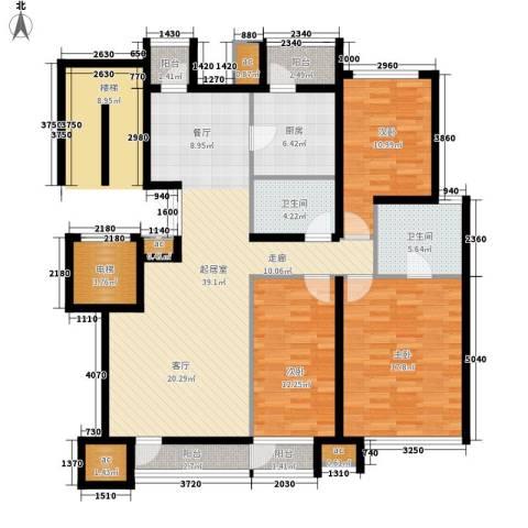 新兴小区3室0厅2卫1厨161.00㎡户型图