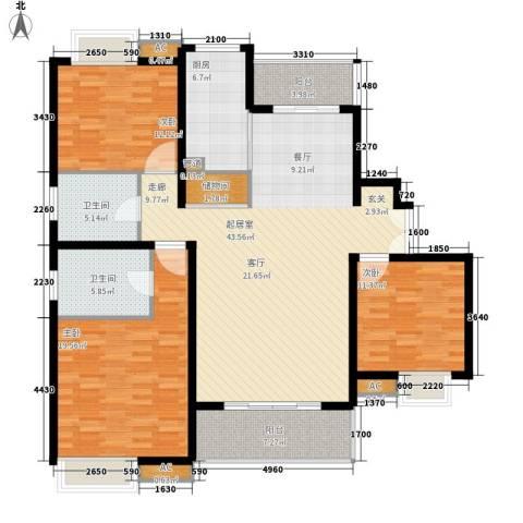 万源城乐斯生活会馆3室0厅2卫1厨135.00㎡户型图