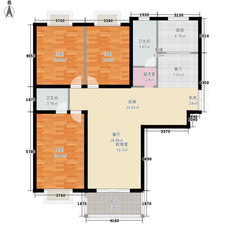 城市风景114.00㎡城市风景3室户型3室