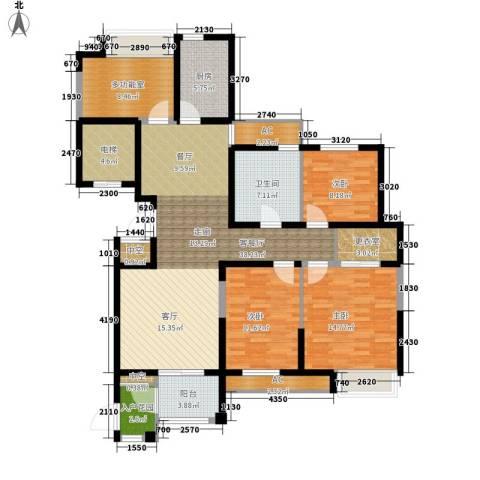 百乐广场3室1厅1卫1厨133.00㎡户型图