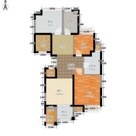 百乐广场2室1厅1卫1厨101.00㎡户型图