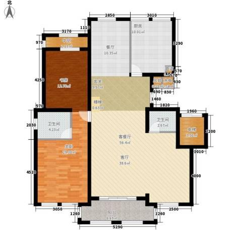 华润中央公园1室1厅2卫1厨131.00㎡户型图