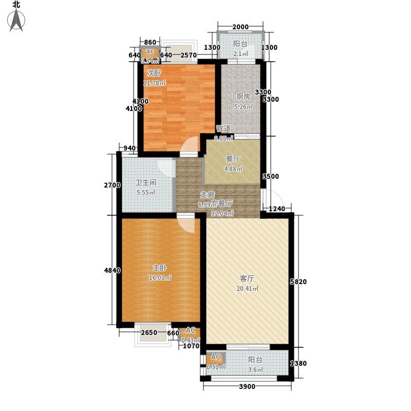 恒盛庄园92.00㎡恒盛庄园户型图泰晤士印象2、3、4、5、7、10、16楼B3户型2室2厅1卫1厨户型2室2厅1卫1厨