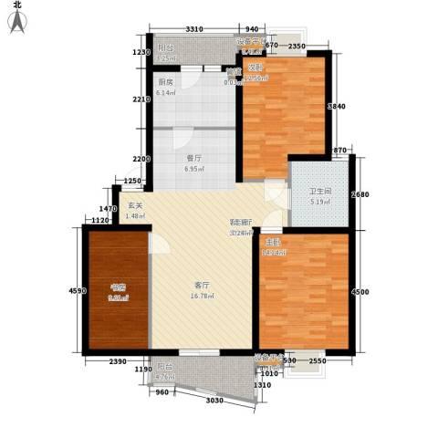 金虹花园3室1厅1卫1厨103.00㎡户型图