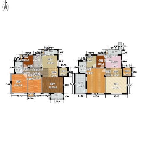 海棠湾花园5室1厅2卫1厨187.00㎡户型图