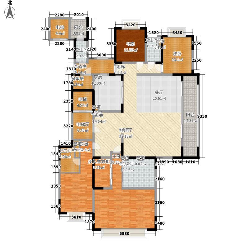 西派国际276.76㎡一期1号楼标准层A1户型
