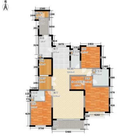 西派国际3室1厅3卫1厨172.00㎡户型图