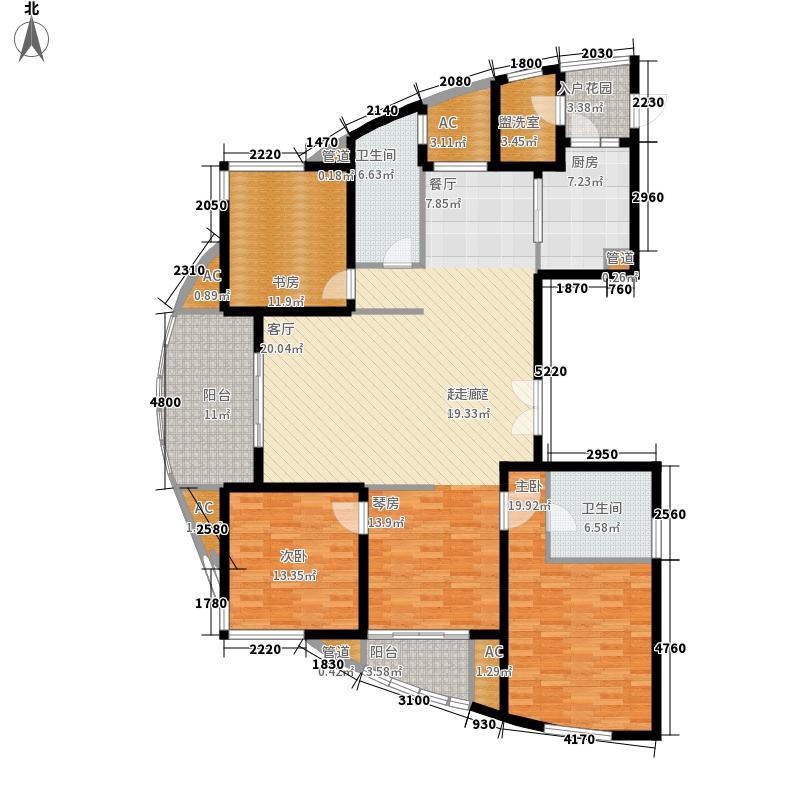 万源城乐斯生活会馆177.00㎡万源城朗郡户型图f户型3室2厅2卫户型3室2厅2卫