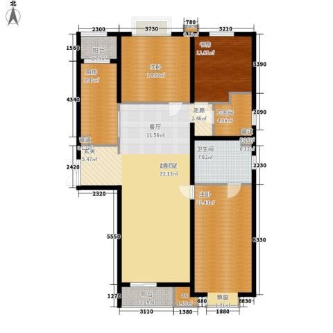 国风上观3室0厅2卫1厨176.00㎡户型图
