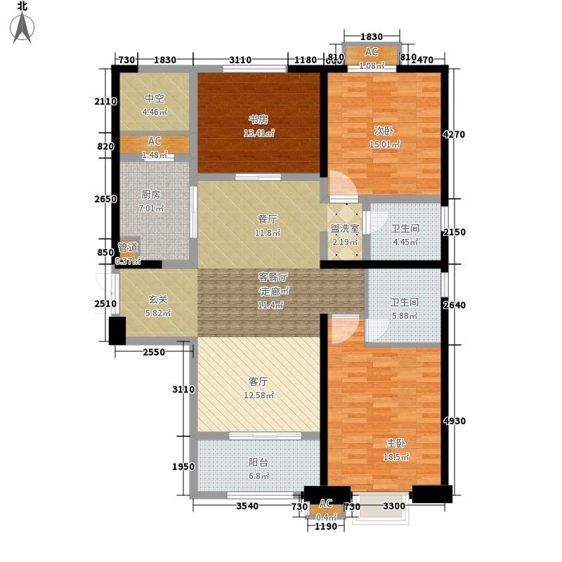 坝上街环球中心户型图R6#、R7#、R8#楼F户型 3室2厅2卫1厨