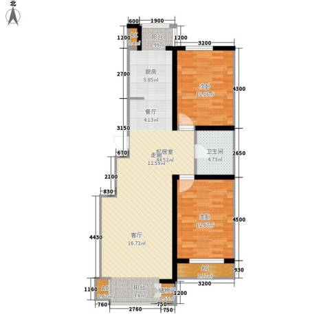 瑞宝国际花苑2室0厅1卫0厨84.00㎡户型图