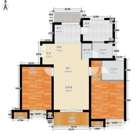 万源城乐斯生活会馆2室0厅2卫1厨115.00㎡户型图