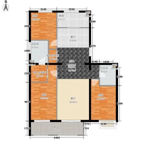 京投银泰·琨御府3室0厅2卫1厨166.00㎡户型图
